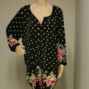 Igigi Tops - Igigi liva blouse in rose print