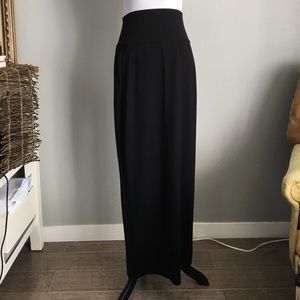 Eileen Fisher Dresses & Skirts - Eileen Fisher Black foldover waist maxi skirt sz s