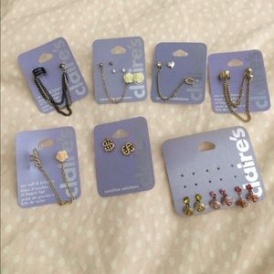 Claire's Jewelry - Log of earrings and ear cuff