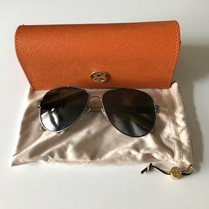 Tory Burch Accessories - $260 Tory Burch aviators sunglasses polarized