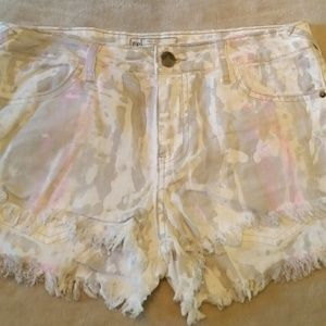 free people  Pants - Free people water color cut off shorts 28