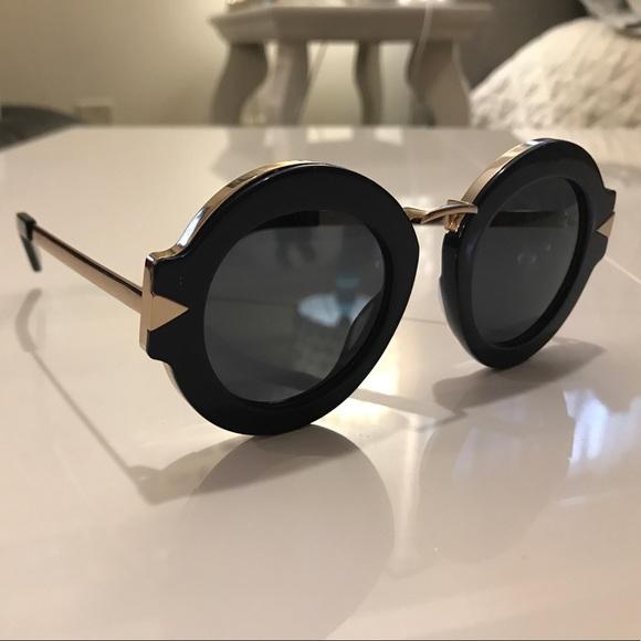 73cd7833ce491 Navy   Gold Karen Walker Maze Sunglasses  1501577