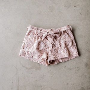 LAUREN CONRAD Lace Pink Shorts