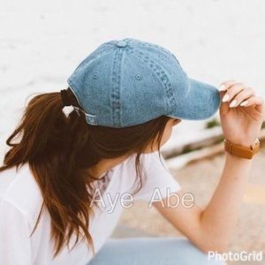 Accessories - BASIC DENIM BASEBALL CAP WITH STITCH ACCENT