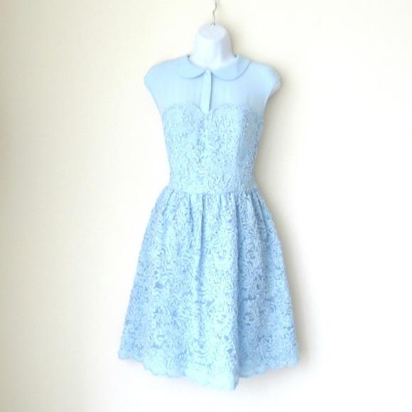 aa7e6b8a6f9156 Host Pick Ted Baker  Dress Pale Blue Lace. M 590f9e2941b4e0df5101e170
