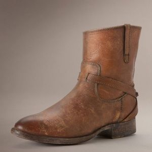 Frye Shoes - FRYE Leather Boots Southwestern Ankle Bootie Shoes