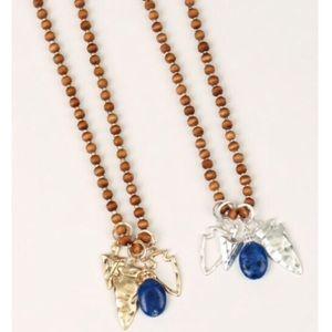 Set! Boho earrings and long necklace