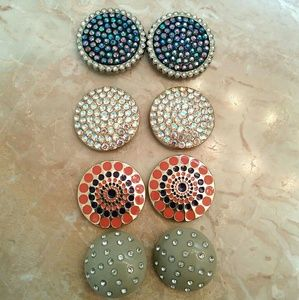 Lindsay Phillips  Accessories - Four Pairs Of Lindsay Phillips Snaps