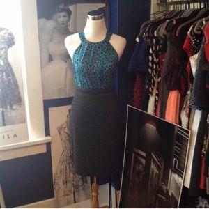 Tahari Dresses & Skirts - Gray Pencil Skirt w/Black animal print spots