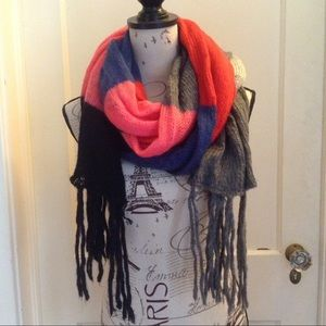 Extra Long Oversized Block Color Scarf