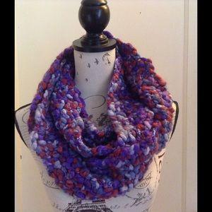 Accessories - Purple Crochet Infinity Scarf