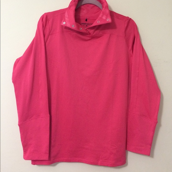 nike nike golf 1 4 snap pullover hot pink from michael 39 s closet on poshmark. Black Bedroom Furniture Sets. Home Design Ideas