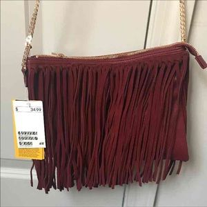 NWT H&M Fringe Messenger bag