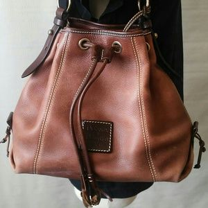 Dooney & Bourke Handbags - Dooney & Bourke Brown Leather Bucket Purse