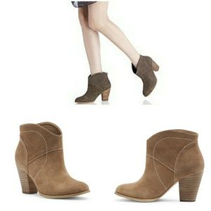 Last chance SoleSociety Alba coffee western bootie