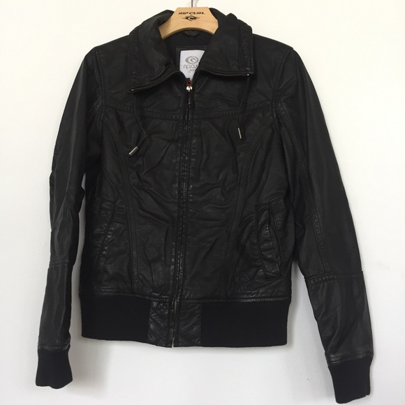 Rip curl leather jacket