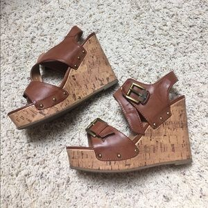 Mossimo Supply Co. Shoes - Mission Brown Wedges