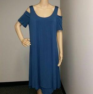 MYNT 1792 Dresses & Skirts - Mynt 1792 cold shoulder in blue