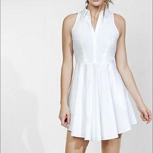 Express Sleeveless Fit & Flare Shirt Dress