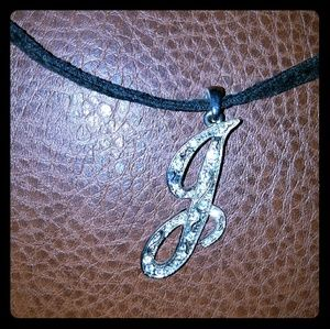 Jewelry - J Inital pendant with leather cord