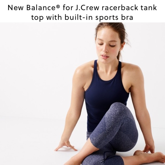 50 off j crew tops new balance racerback tank top for Shirts with built in sports bra