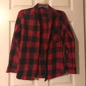 Black and red plaid shirt