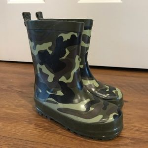 unbranded Other - Kids Army Green Camo Print Rain Boots