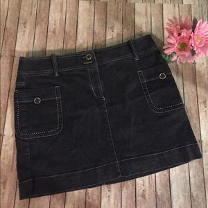 Ann Taylor Dresses & Skirts - Ann Taylor loft denim mini with pockets