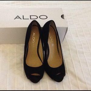 Aldo Black Suede