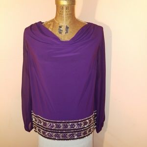 MSK Tops - Pretty purple blouse