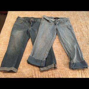 Denim - 2 comfortable pair of crop jeans
