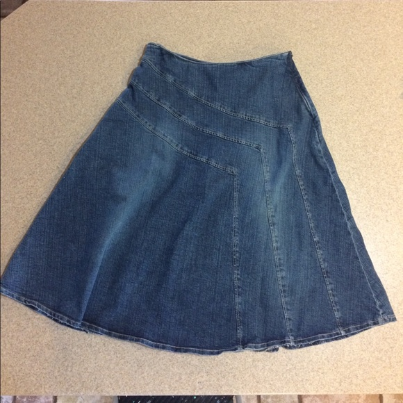 enjoy bottom price new products for later Fit and Flare Denim Skirt