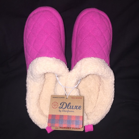 Pink Dearfoam Slippers 28 Images S Dluxe By Dearfoams
