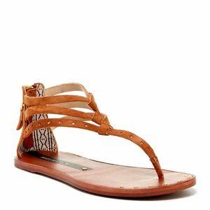 Matt Bernson Shoes - Matt Bernson Cyprus Cognac Boho Festival Sandals 9