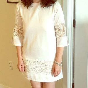 English Factory white shift dress