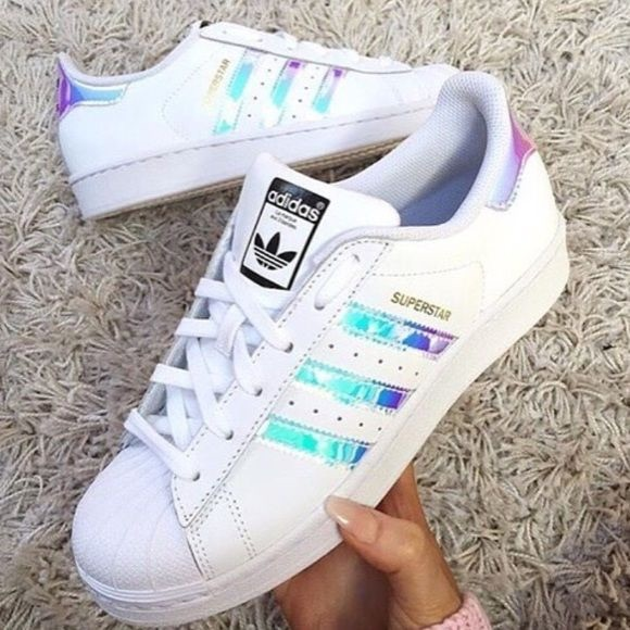 best sneakers dd87d 5a30c Adidas Shoes - Adidas Superstar Holographic