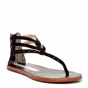 Matt Bernson Shoes - Matt Bernson Cyprus Black Boho Festival Sandals 9
