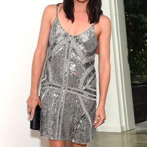 Parker Metallic Sequin Dress