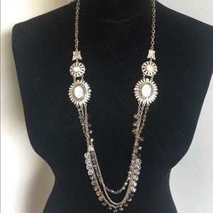 """Ann Taylor Jewelry - Crystal bead drop statement Necklace 30"""" 💕"""