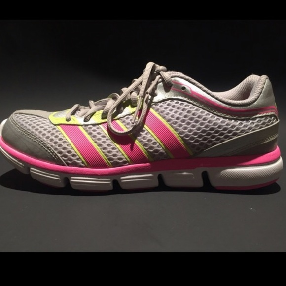 85 adidas shoes gray pink and green adidas