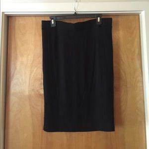 NWOT Black midi skirt - jersey knit type fabric