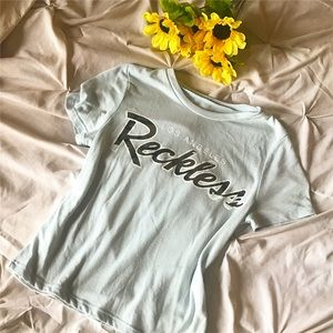 Young & Reckless Tops - Young&Reckless Blue Crop Top