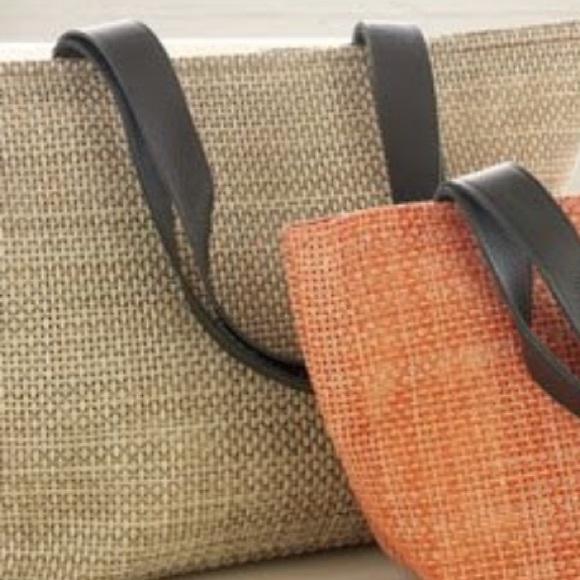 10e869b4e723 chilewich Handbags - Chilewich woven tote bag with leather strap