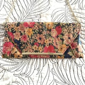 Handbags - Floral cork envelope crossbody/clutch