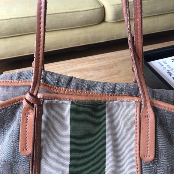 81 off furla handbags sale authentic furla tote bag w leather detail from brooke 39 s closet. Black Bedroom Furniture Sets. Home Design Ideas