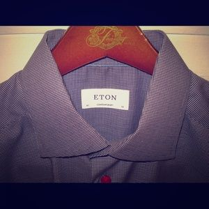 Eton Other - ETON Contemporary Fit Twill Red Buttons 16 41