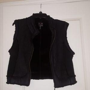 Sweater velour vest