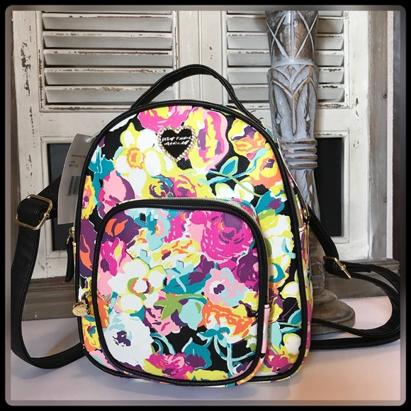 ABSTRACT FLORAL  MINI CONVERTIBLE BACKPACK e61ed38df9abc