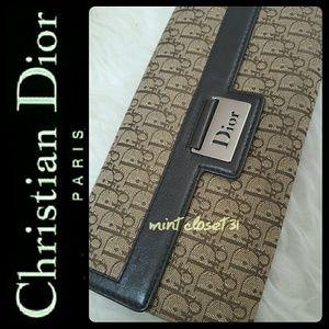 Dior Handbags - Christian Dior Canvas Leather Wallet