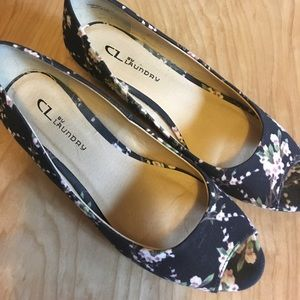 Chinese Laundry-floral peep toe